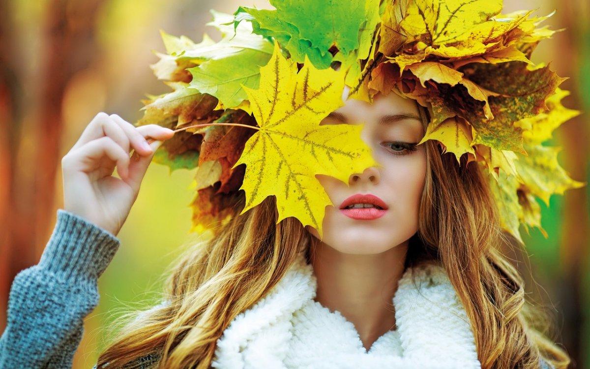 Девушка осень со