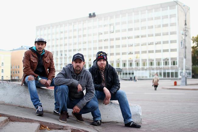 На фото (слева направо): Александр Акур, Глеб Бенциовский, Кирилл Калинин